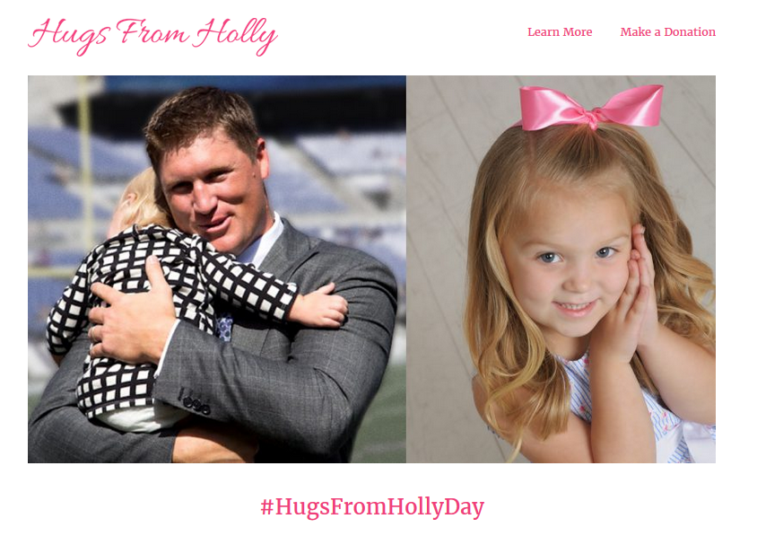 The family created the site hugsfromholly.com , a campaign in memory of Holly, who would have turned 4 on Wednesday. (Source: http://hugsfromholly.com/)
