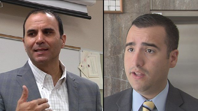 Maricopa County Sheriff's Paul Penzone, left, and Thomas R. Shope, right. (Source: 3TV/CBS 5)