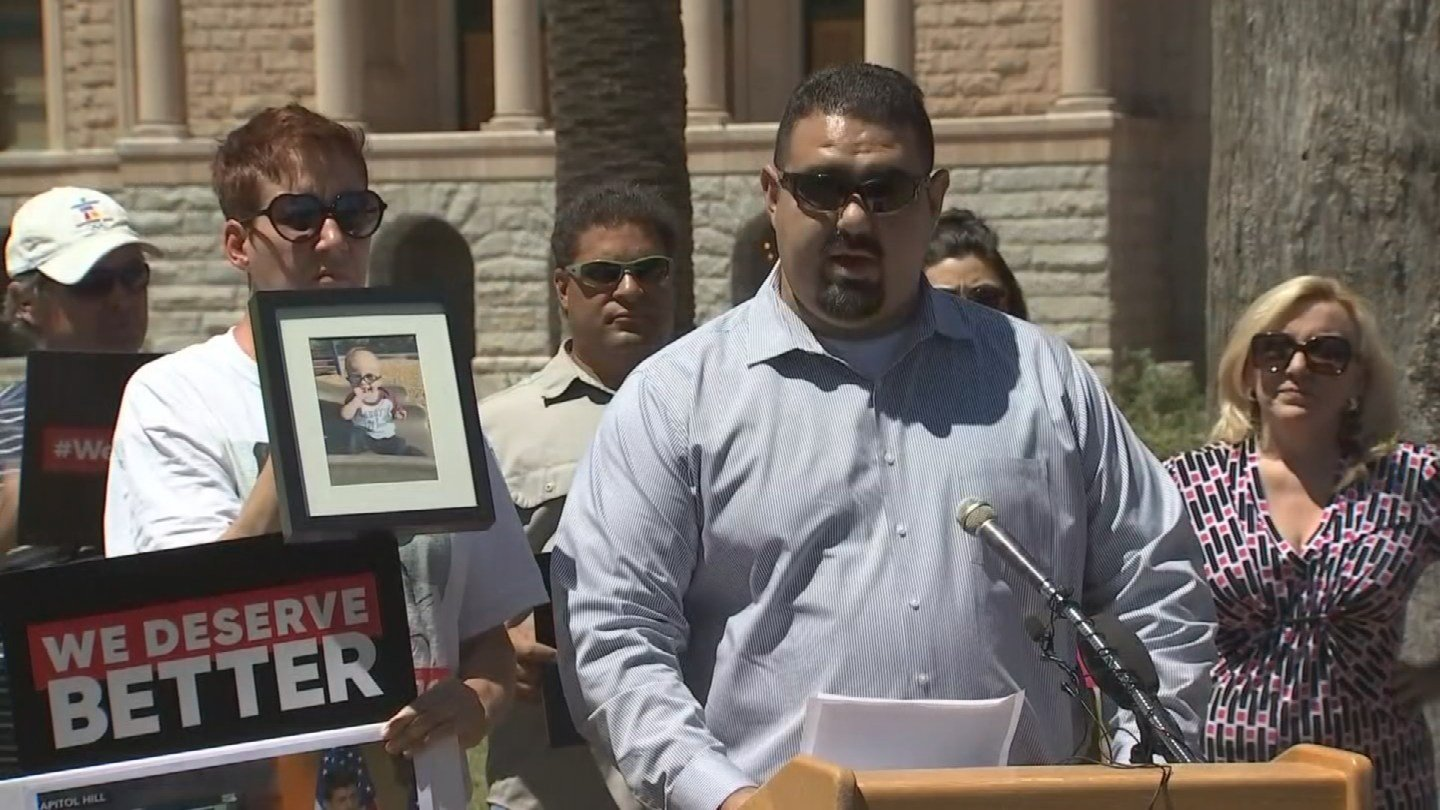 Steve Gomez is the father of a little boy with a pre-existing condition. (Source: 3TV/CBS 5)