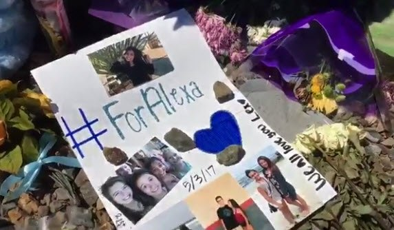 Friends and loved ones have created a memorial for Alexa Flores (Source: 3TV/CBS 5)