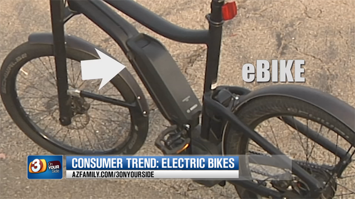 eBikes have a small, battery-powered electric motor that activates only when you pedal. (Source: 3TV/CBS 5)