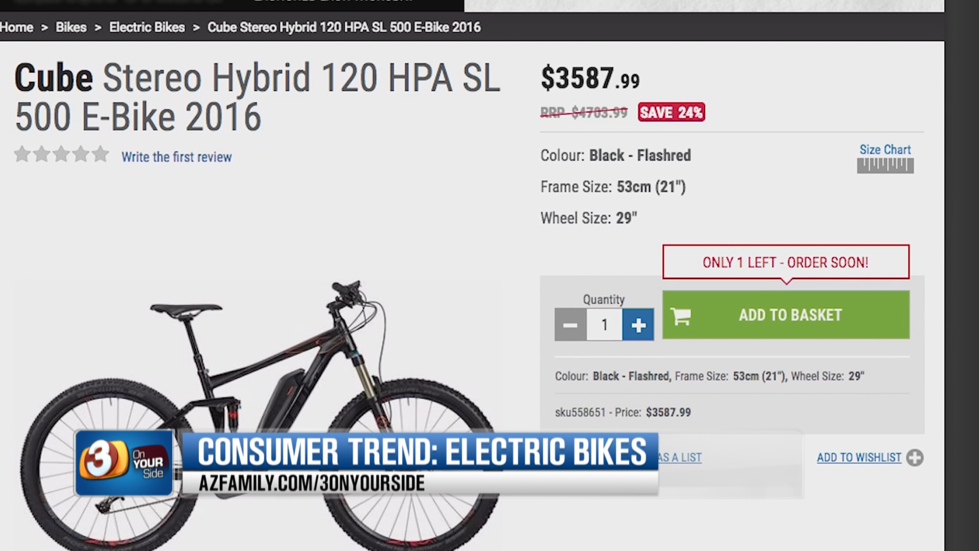 As for cost, the majority of eBikes will set you back $1,000 or more. (Source: 3TV/CBS 5)