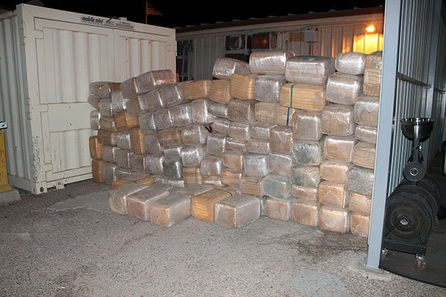 Border patrol agents find more than 2,000 pounds of marijuana worth more than $1 million. (Source: U.S. Customs and Border Protection)