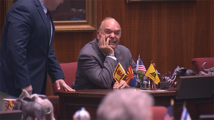 Rep. Don Shooter wouldn't answer questions about where he lives. (Source: 3TV/CBS 5)
