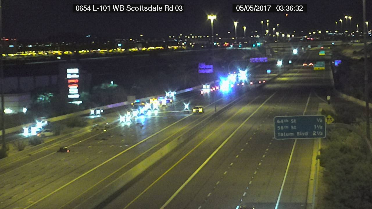 ADOT Camera shows the crash on Loop 101 and Scottsdale Rd. (SOURCE: ADOT)