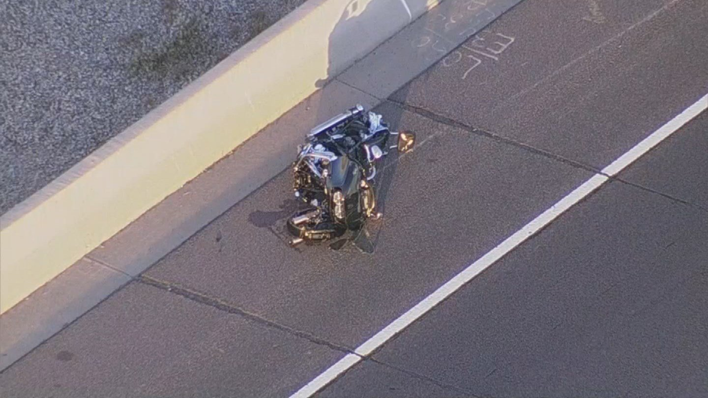 Aerial view of the motorcycle crash (SOURCE: 3TV/CBS5)