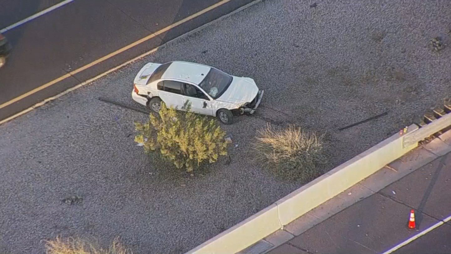 Aerial view of the vehicle involved in crash (SOURCE: 3TV/CBS5)