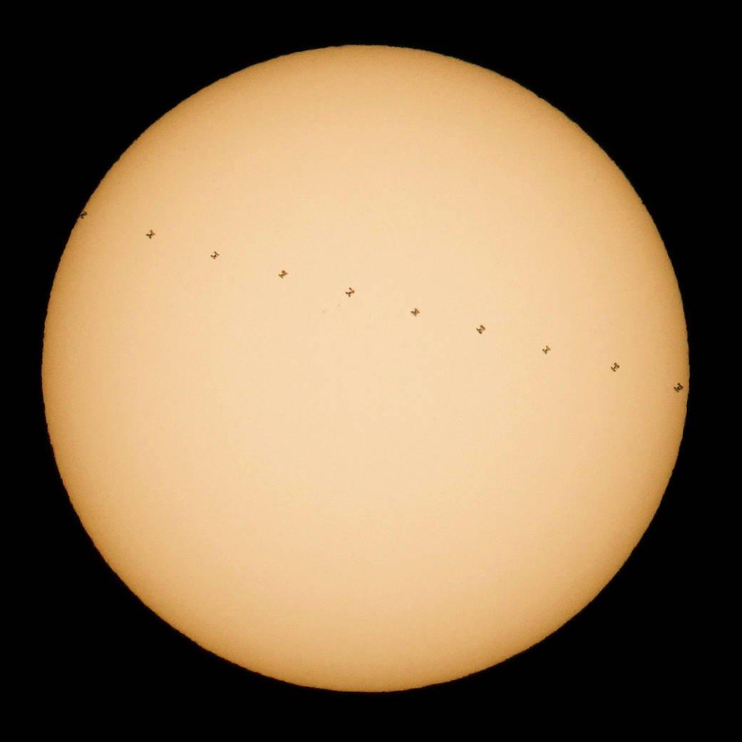 International Space Station solar transit on Dec. 20, 2016 (Source: NASA)