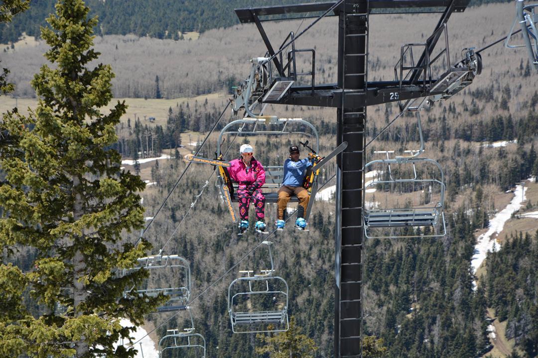 Arizona Snowbowl still had skiers for Cinco de Mayo! (5 May 2017) [Source: Arizona Snowbowl]