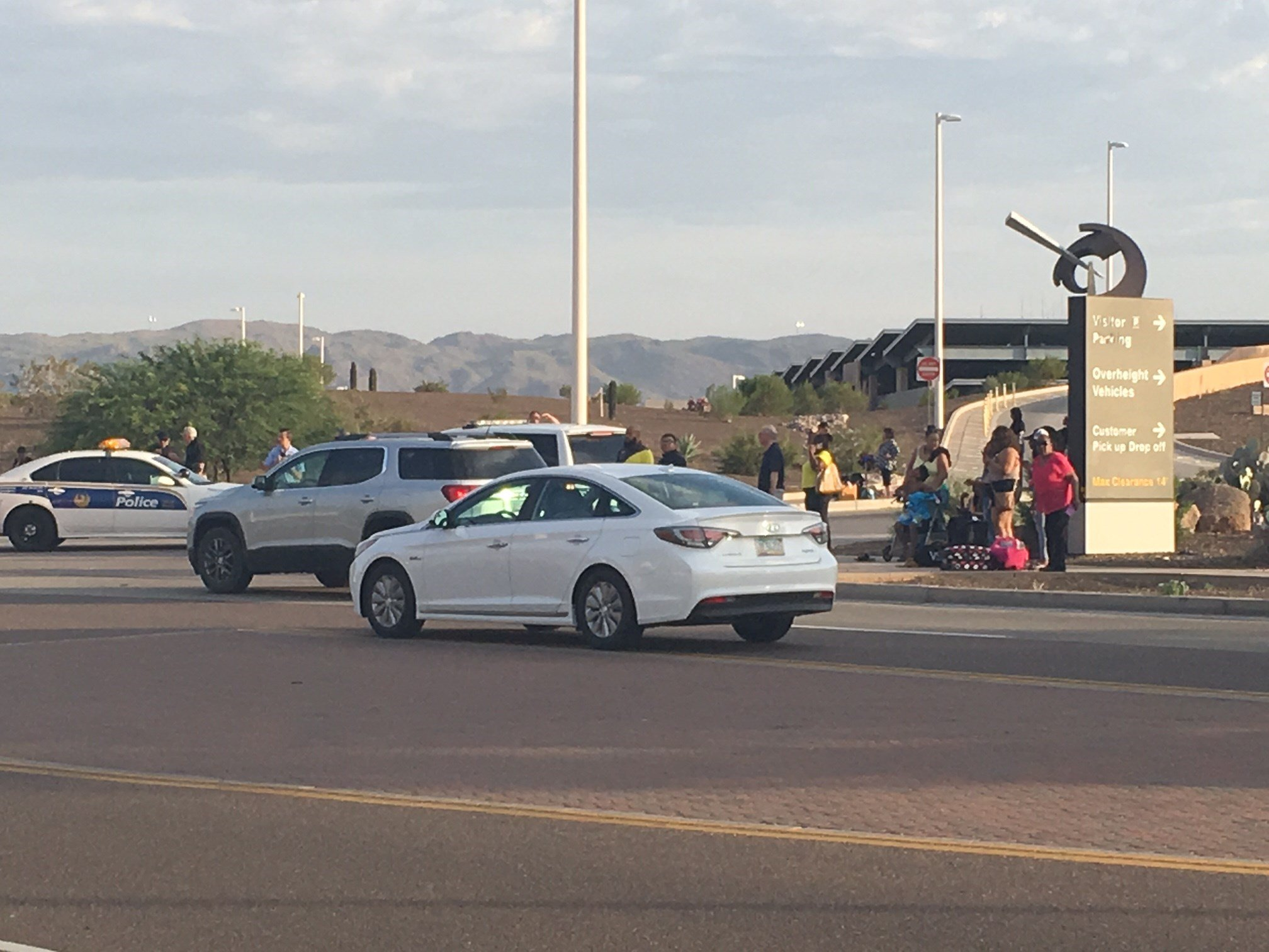 "Police evacuated the car rental facility at Sky Harbor Airport after a report about a ""suspicious vehicle."" (Source: 3TV/CBS 5)"
