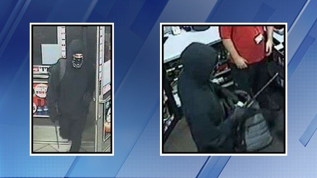 Police were searching for a man who allegedly robbed two Circle K stores in Phoenix with a baton. (Source: Silent Witness)