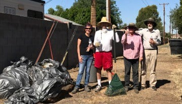 Residents in the Royal Palms area cleared 16 alleys of trash and brush. (Source: 3TV/CBS 5)