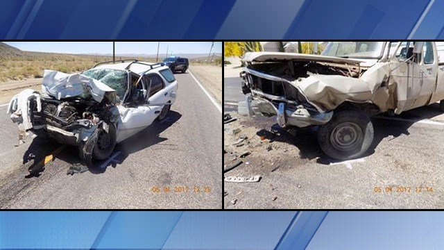 A head-on crash in northwestern Arizona left a man dead. (Source: Mohave County Sheriff's Office)