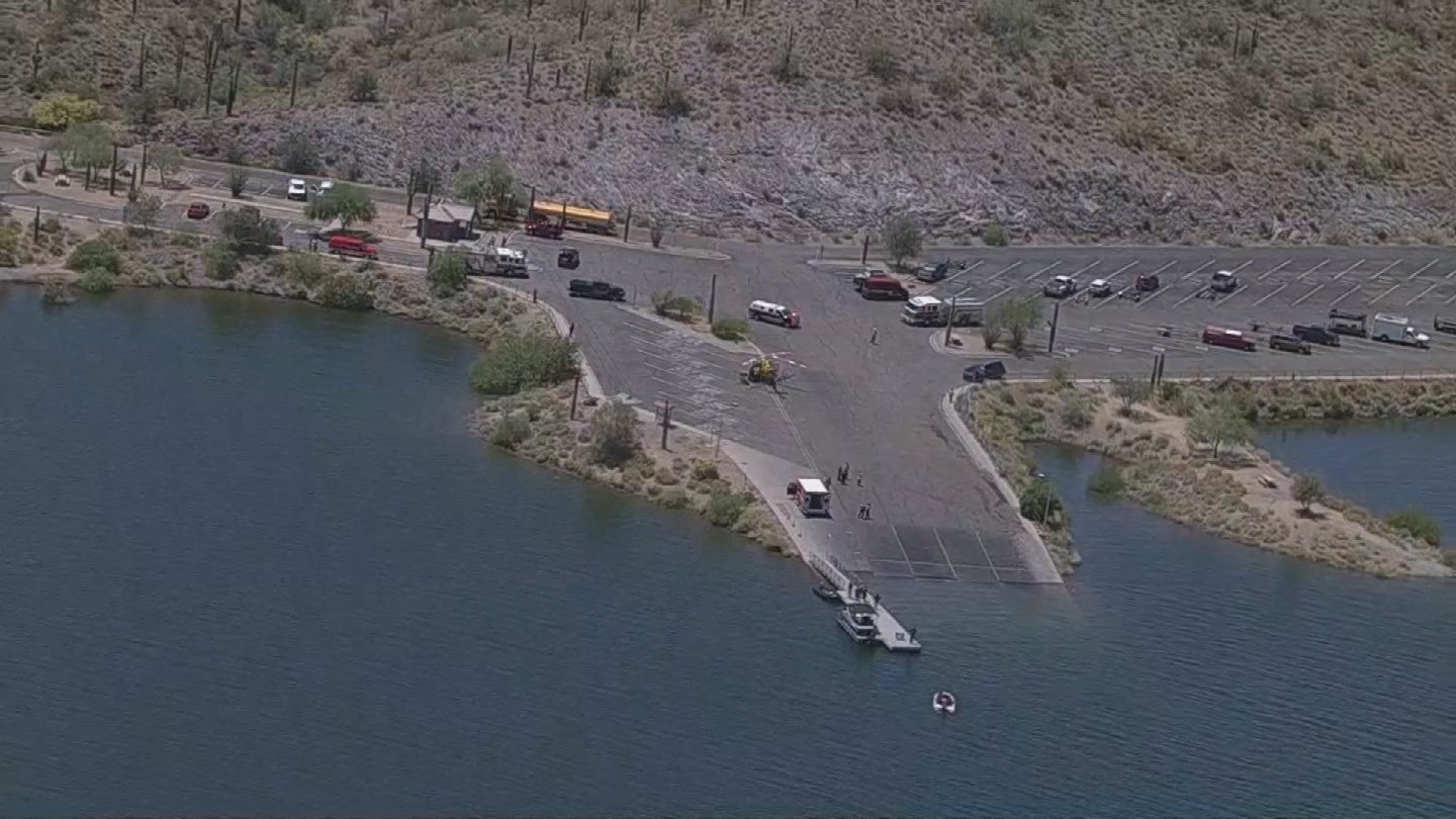 A 29-year-old man nearly drowned Monday at Lake Pleasant. (8 May 2017)