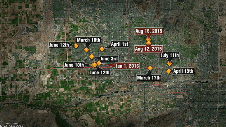 The Serial Street Shooter has been linked nine murders and 12 shootings. (Source: 3TV/CBS 5)