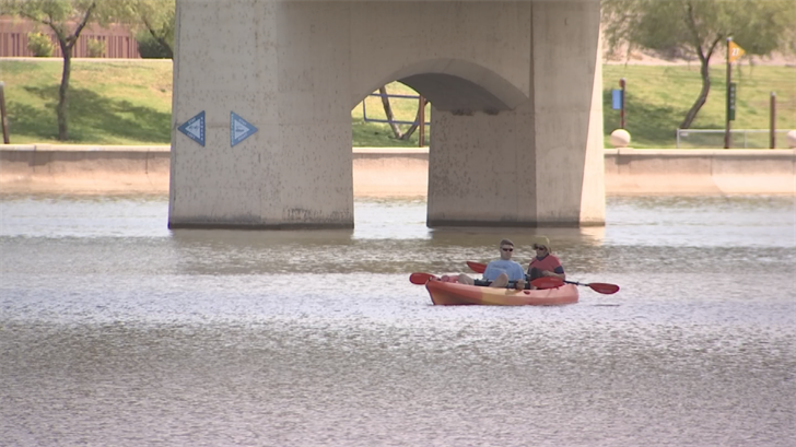 The cool weather won't last long so people were soaking it in while they could, including at Tempe Town Lake. (Source: 3TV/CBS 5)
