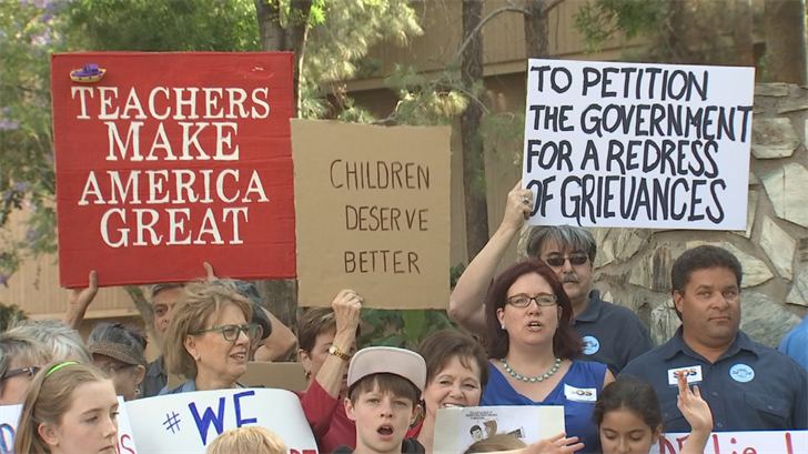 A group called Save Our Schools wants to collect enough signatures to put the law extending school voucher eligibility to all schoolchildren on hold until the November 2018 general election. (Source: 3TV/CBS 5)