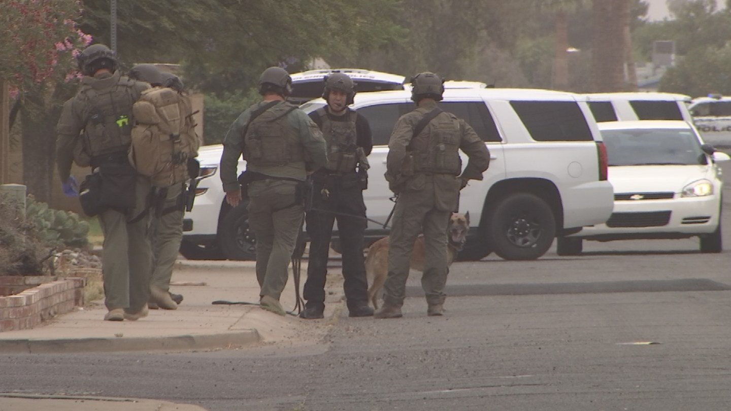Police responded to a Glendale neighborhood after two men were caught stealing a resident's gun. (Source: 3TV/CBS 5)