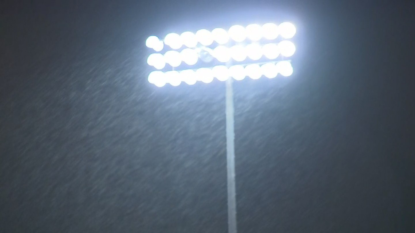 Rain started coming down at Sun Devil Stadium Monday evening.  (SOURCE: 3TV/CBS5)