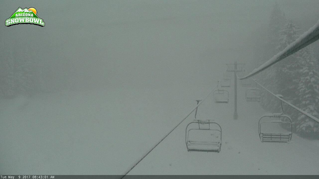 AZ Snowbowl's camera showed the resort covered in snow (SOURCE: AZ Snowbowl)