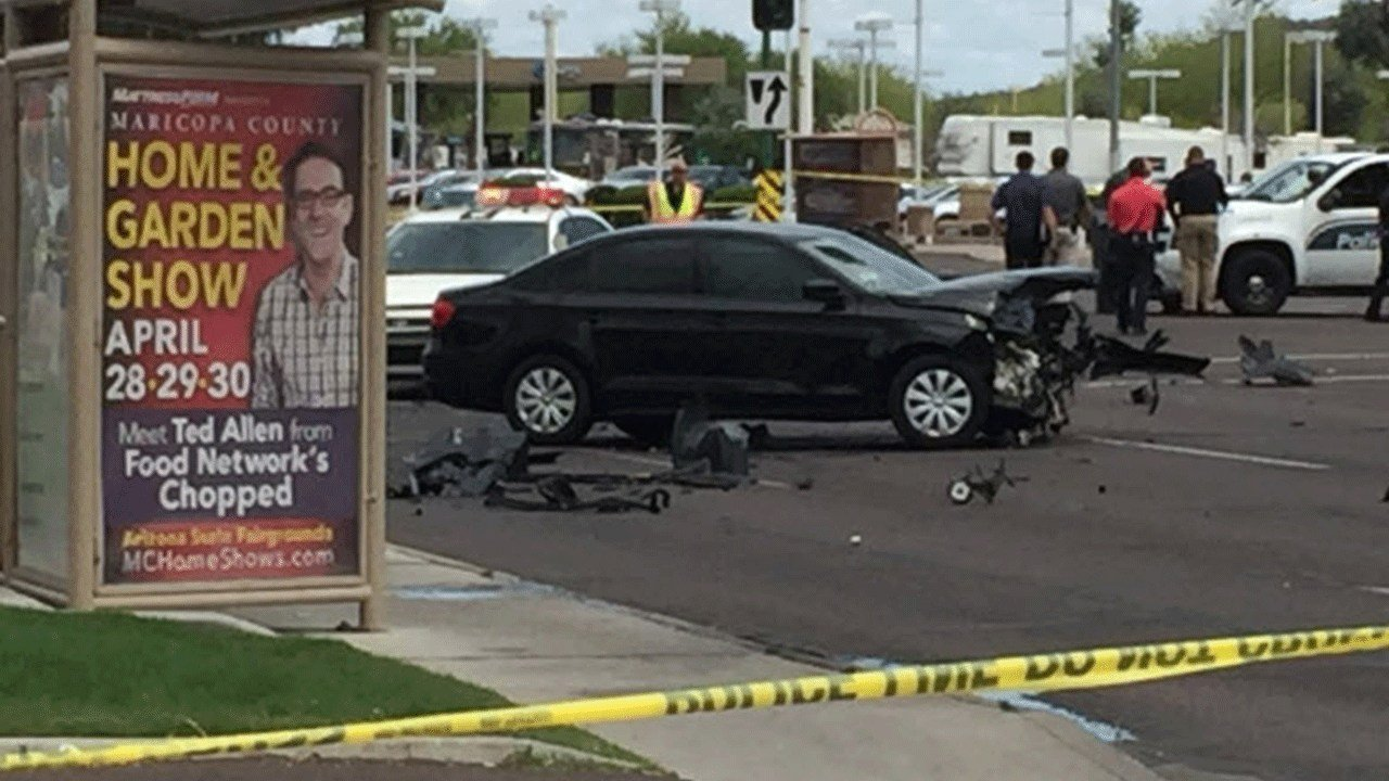 Crash at 19th Ave. & Bell Road (Source: 3TV/CBS 5)