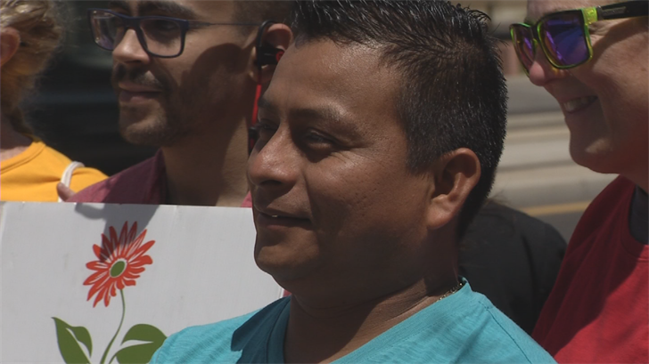 Misael Perez had an uneventful ICE appointment and won't have another one until the courts decide on his case. (Source: 3TV/CBS 5)