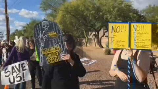 The protests were organized by 19 groups across the state. (Source: Indivisible Southern Arizona)