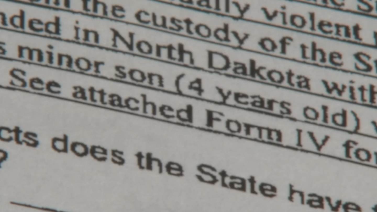 Court documents indicate when they were arrested, Wilson's 4-year-old son was with them in North Dakota. (Source: 3TV/CBS 5)