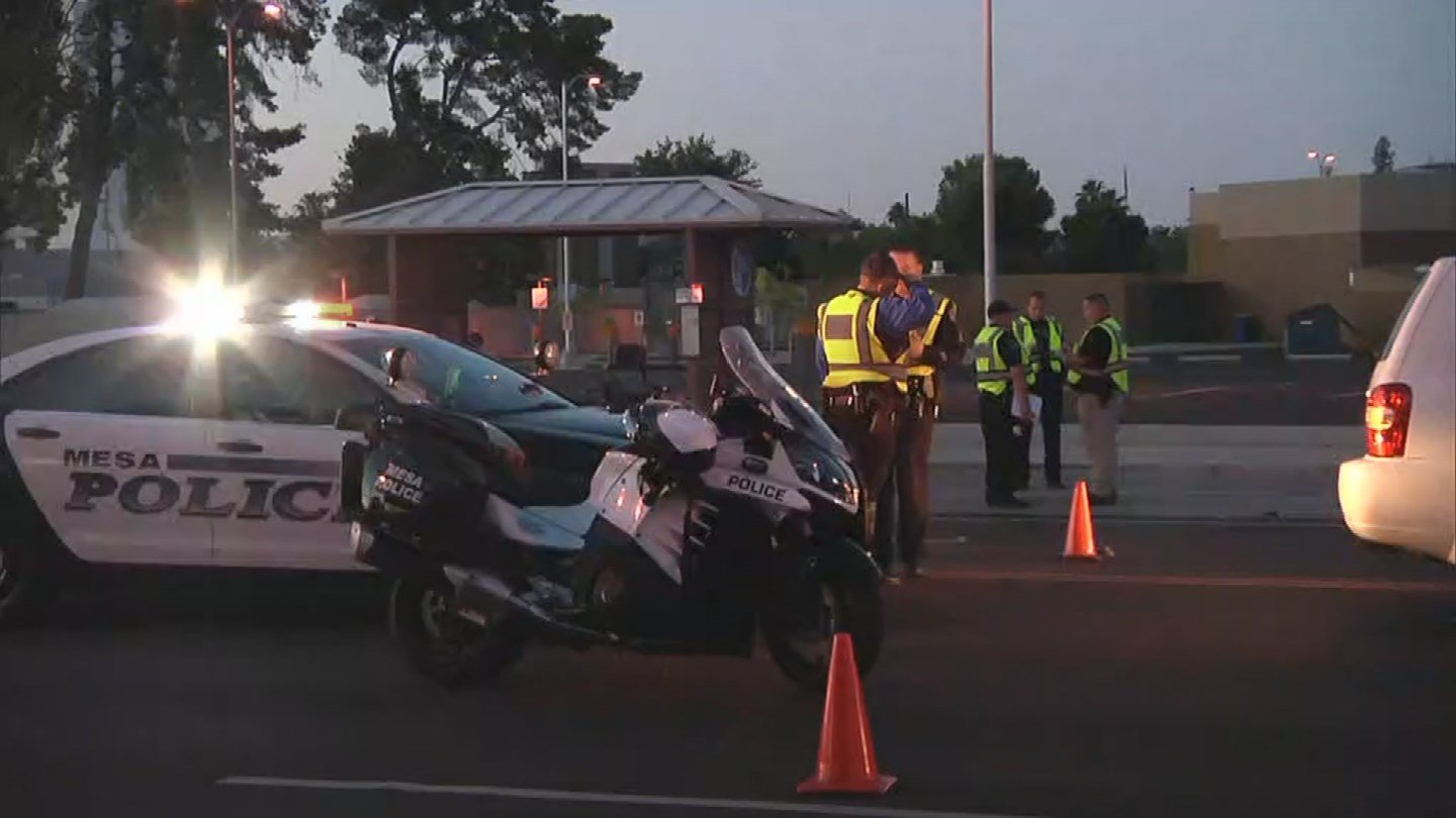 A woman was fatally struck outside her vehicle in Mesa. (Source: 3TV/CBS 5)