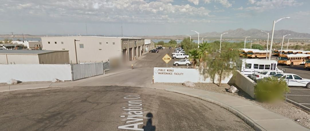 This is where the current weather gauges are located in Lake Havasu, at the Public Works Facility. (Source: Google Maps)