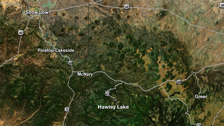 This is where Hawley Lake, Arizona is. (Source: 3TV/CBS 5)