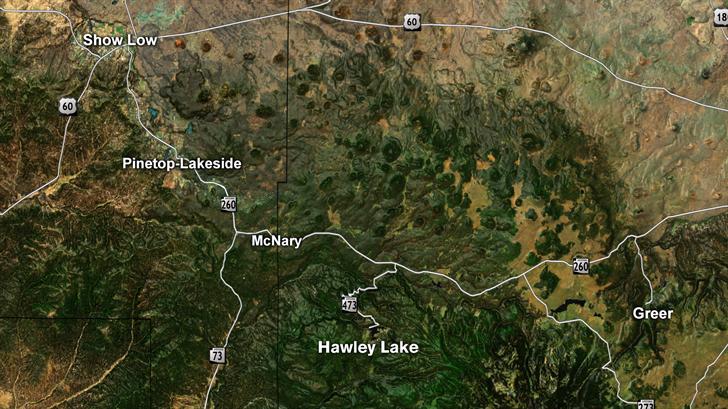 This is where Hawley Lake, Arizona is. (Source: 3TV/CBS 5)