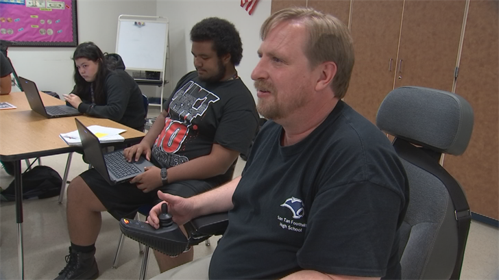 Crandall is a special education staff member at San Tan Foothills High School. (Source: 3TV/CBS 5)