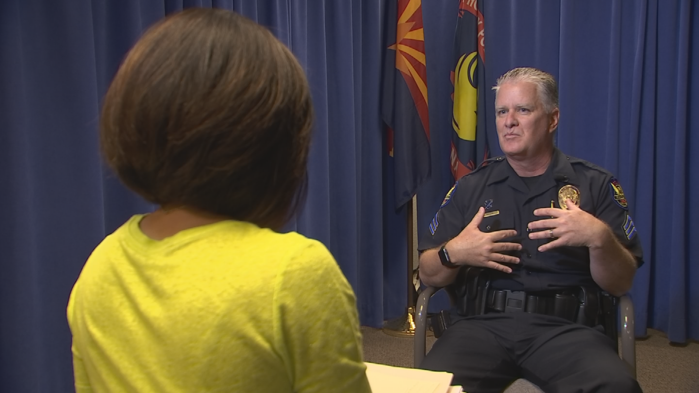 Nothing really prepares you, unless you have military or law enforcement training, for shooting at a person, said Phoenix Police Sgt. Alan Pfohl. (Source: 3TV/CBS 5)