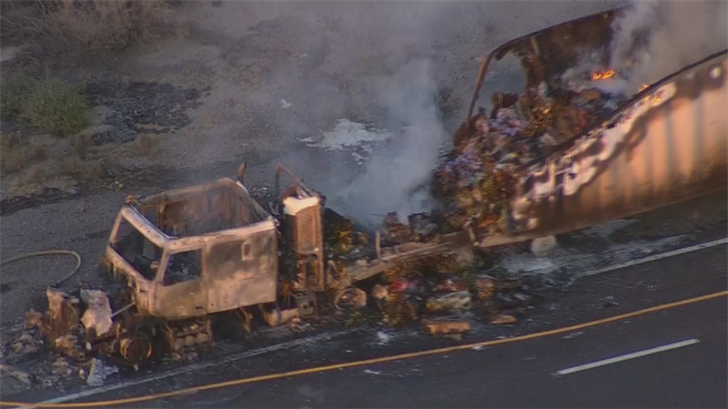Most, if not all, of the flowers inside the trailer were destroyed. (Source: 3TV/CBS 5)