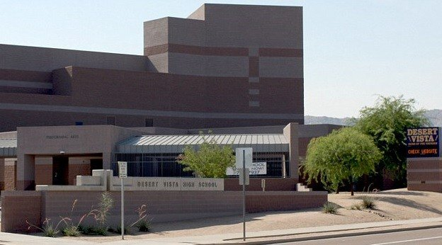 Graffiti was found at Desert Vista High School on Monday morning. (Source: 3TV/CBS 5)