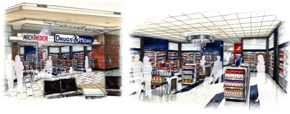 An artist's rendering of the new places opening at Sky Harbor soon (SOURCE: Sky Harbor)