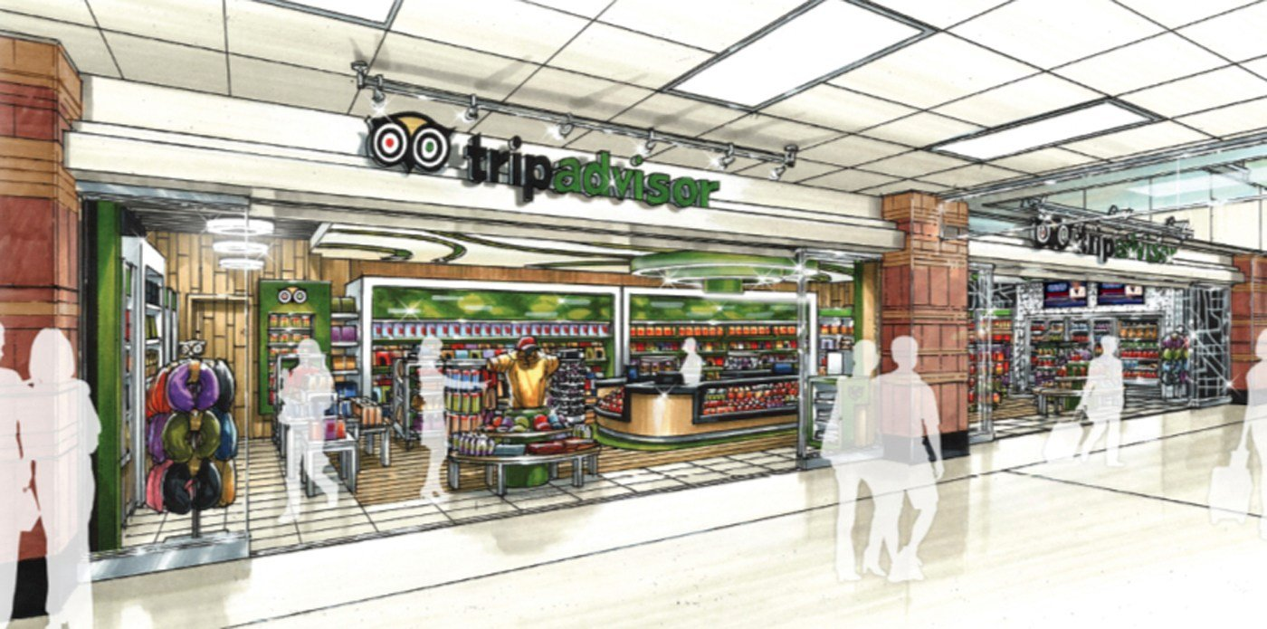 An artist's rendering of one of the new retail shops.  (SOURCE: Sky Harbor)