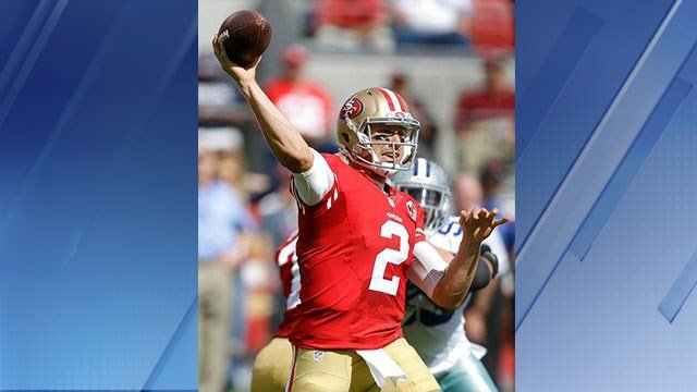 The Cardinals announced the signing of former 49ers QB Blaine Gabbert. (Source: AP Images)
