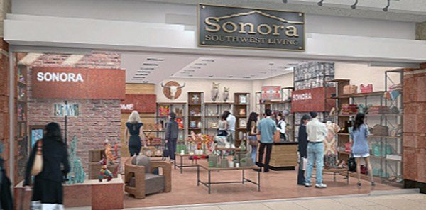 An artist's rendering of a new retail shop (SOURCE: Sky Harbor)