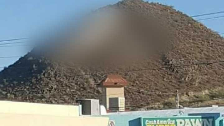 "The ""S"" on Sunnyslope Mountain in Phoenix was vandalized late Wednesday night . (SOURCE: Viewer photo)"