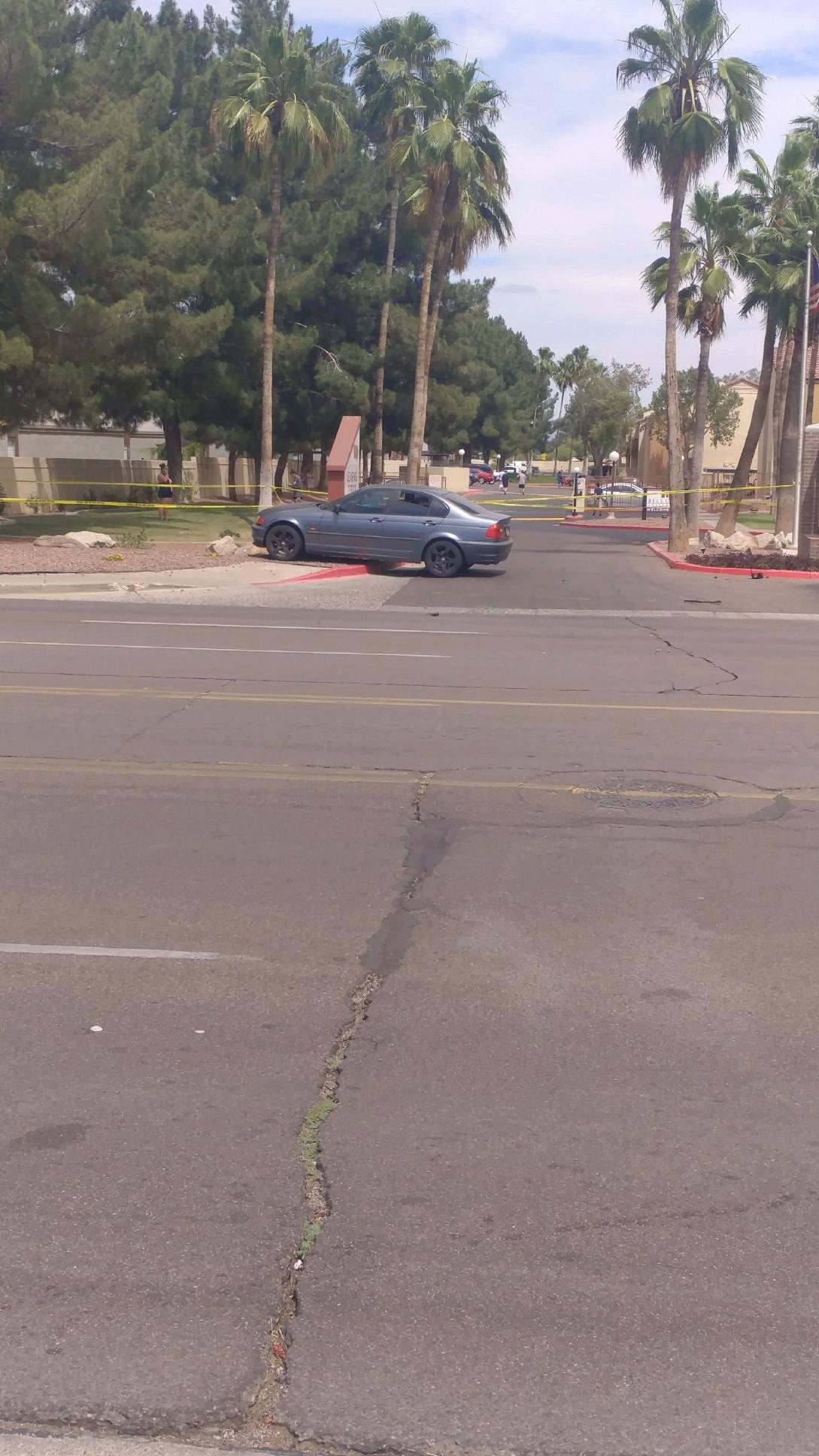 One of the vehicles involved in a wreck at 19th Ave. and Bell. (Source: Brett Thierauf)