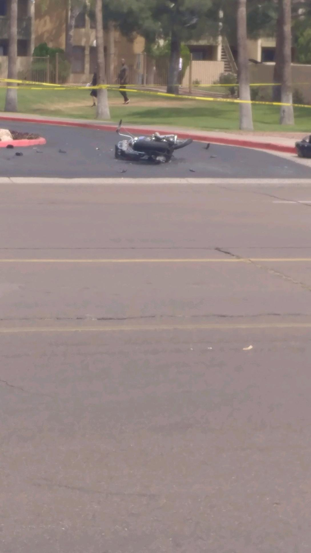 Motorcycle rider injured at 19th Ave. Bell Rd Sunday. (Source: Brett Thierauf)