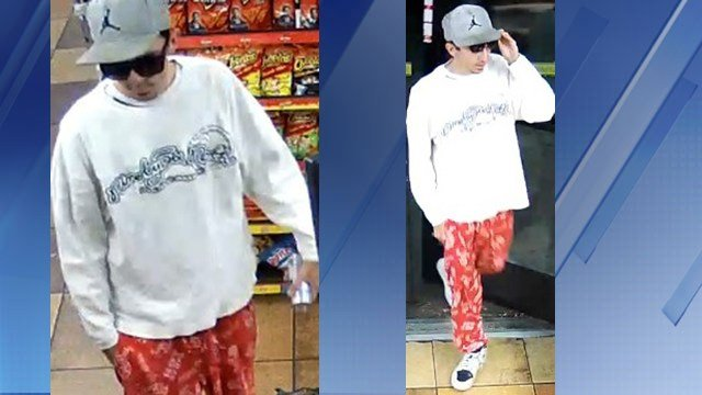 A man wearing pajama bottoms robbed a convenience store. (Source: Phoenix Police Department)