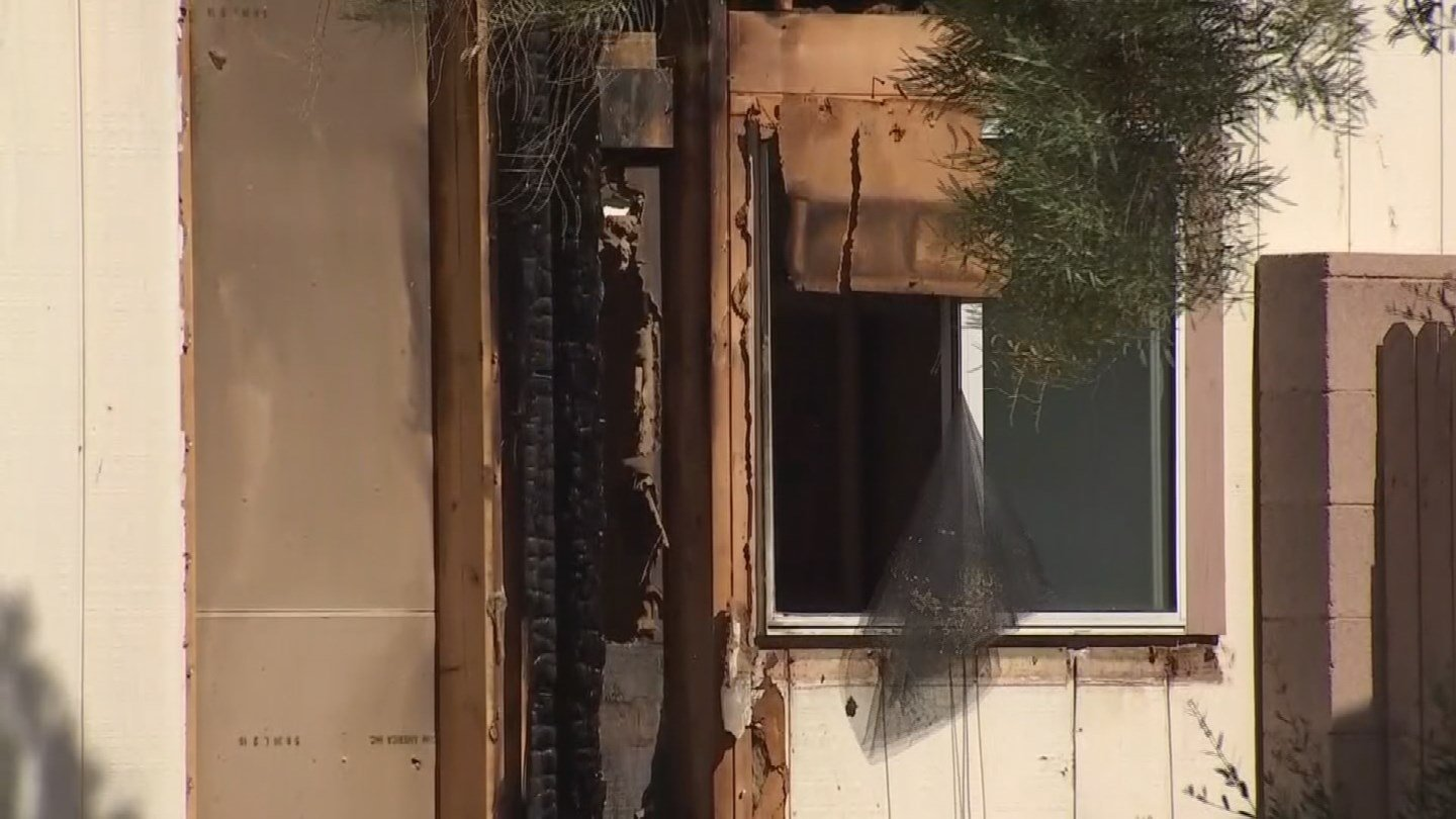 Firefighters battled a house fire in west Phoenix on Sunday. (Source: 3TV/CBS 5)