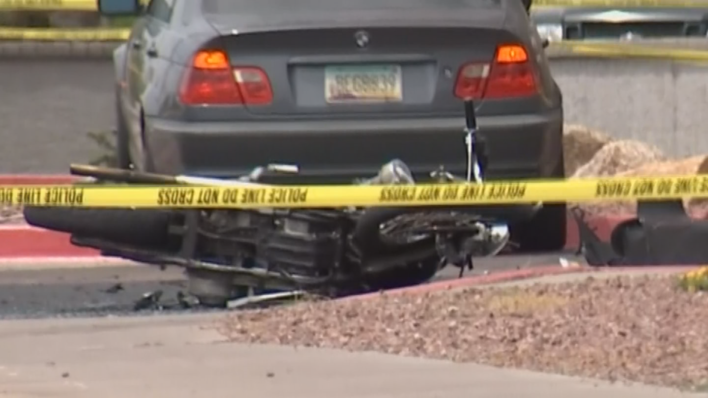 A motorcycle was seriously hurt in the crash. (Source: 3TV/CBS 5)