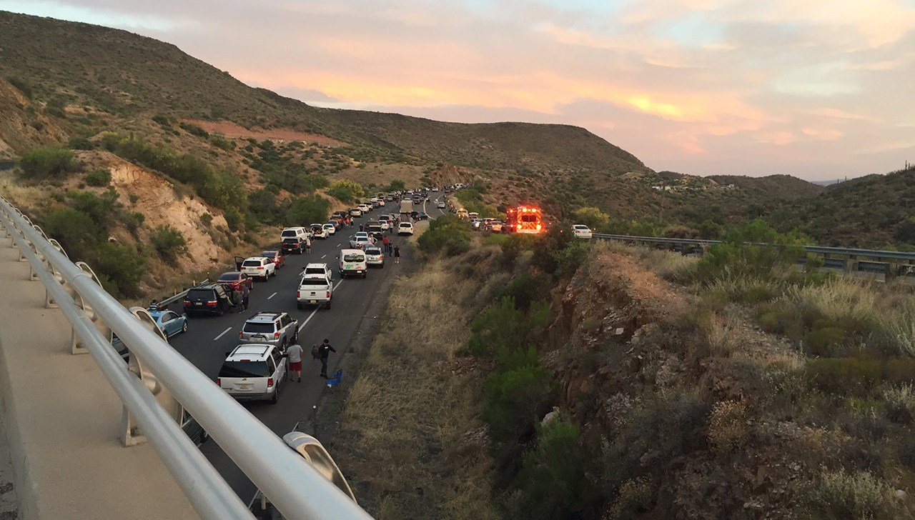 Southbound traffic on I-17 was being detoured to State Route 69. (Source: 3TV/CBS 5)