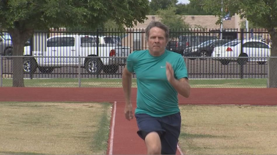 Chris Wallace is back to winning medals after 40 years away from track. (Source: 3TV/CBS 5)