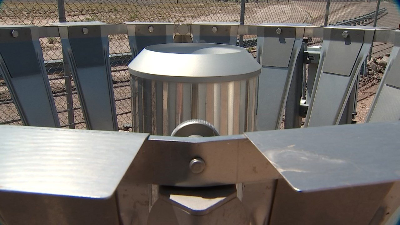 Official rainfall falls are measured here at the automated rain gauge at Sky Harbor Airport. (Source: 3TV/CBS 5)