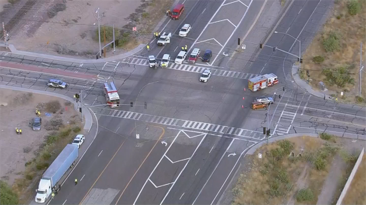 At least one person was killed in a crash in Wittmann. (Source: 3TV/CBS 5)